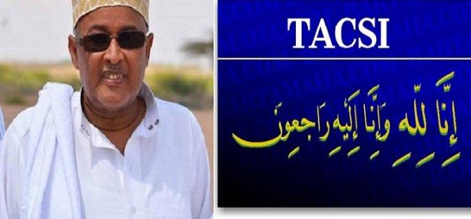 Guddoomiyaha Golaha Wakiilada Somaliland Oo Shacabka Somaliland Ka Tacsiyadeeyey Geerida Marxuum Xildhibaan Sheekh Cumar Sheekh Axmed Furre..June 26, 2017