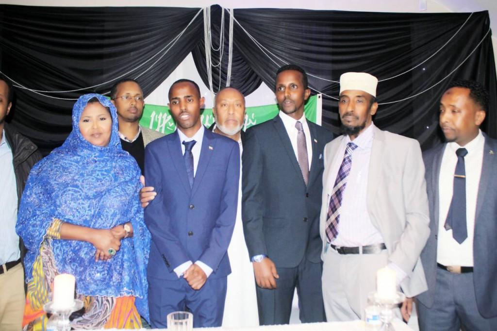 Saraakiil ka socda Xukumadda Somaliland oo London lagu soo dhaweeyey,xaflad balaadhan oo ka dhacday galbeedka magaaladd London+Sawiro