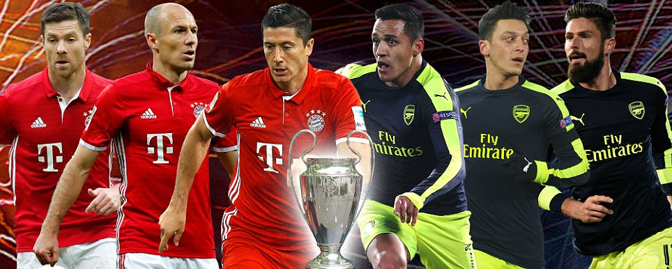 Bayern Munich v Arsenal, UEFA Champions League LIVE: Follow all the Allianz Arena action as it happens