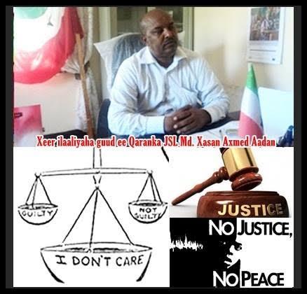 Md Madaxweyne Hoos U Dhaadhac Somaliland waxay u baahan-tahay Xeer Ilaaliye Guud Qaran oo xoojinaaya Garsoorka iyo Cadaaladda JSL.