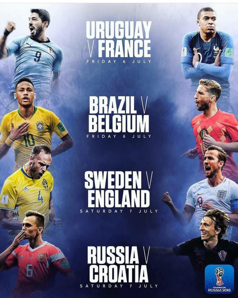 last 8 of the  world cup..2018